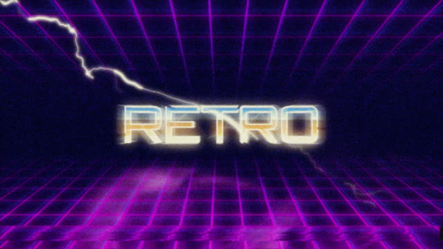 Retro Style Titel Intro video