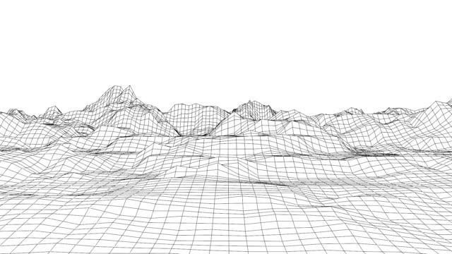 retro stil futuristische landschaft mit bergen - kartographie stock-videos und b-roll-filmmaterial