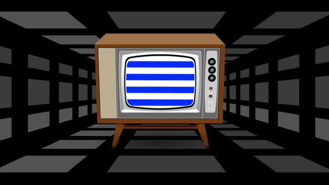 Retro Televison with Psyched Out Background Retro Televison with Psyched Out Background cable tv stock videos & royalty-free footage