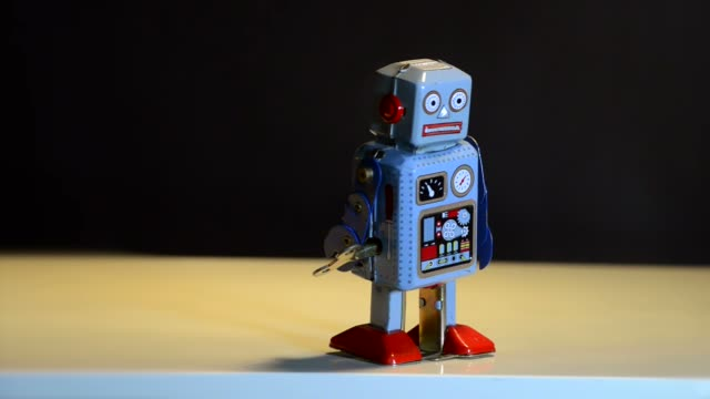 Retro tin robot Retro tin robot robot stock videos & royalty-free footage