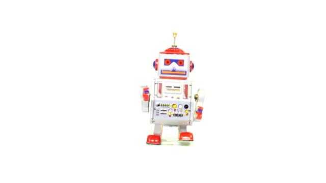 Retro tin toy robot video