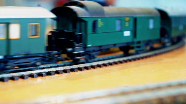 Royalty Free Toy Train Tracks Hd Video 4k Stock Footage B Roll
