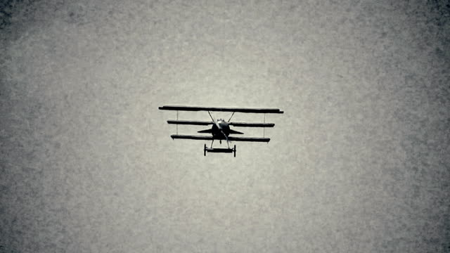 Retro triplan in flight video