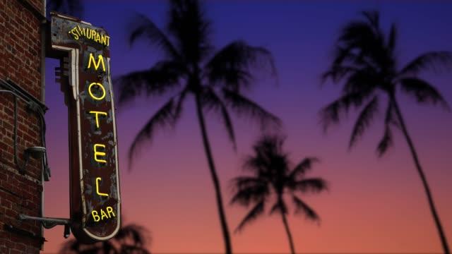 Retro Tropical Motel Palms