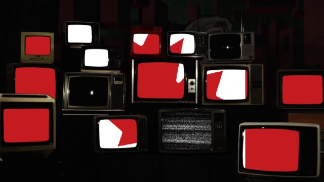 Retro Tvs And The National Flag Of Canada.