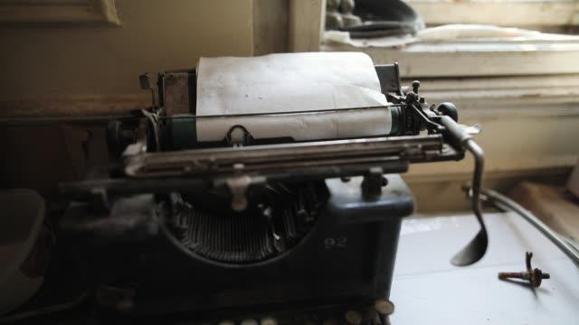 Retro Typewriter on Vintage Desk