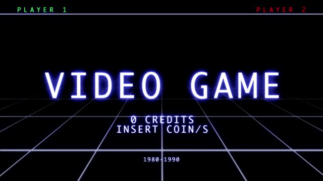Retro Video Game - Menu video