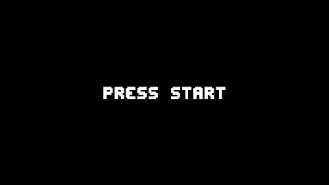 vidéos et rushes de rétro jeu vidéo press start texte ordinateur hud holographique pépin interférence animation écran d'animation sans couture boucle - vue partielle
