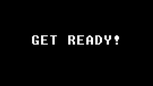vídeos de stock e filmes b-roll de retro videogame text on old tv screen ... new quality universal vintage motion dynamic animated background joyful cool video footage - bit código binário