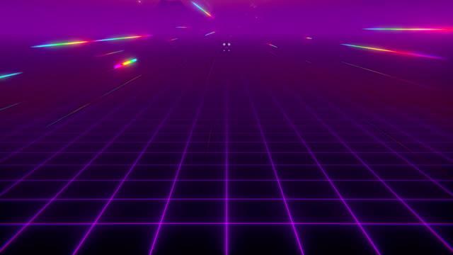 vidéos et rushes de rêve de vague rétro - synthétiseur