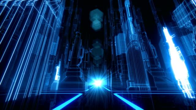 レトロ未来都市 vj ループ - 看板点の映像素材/bロール