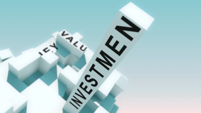 Return on Investment words animated with cubes