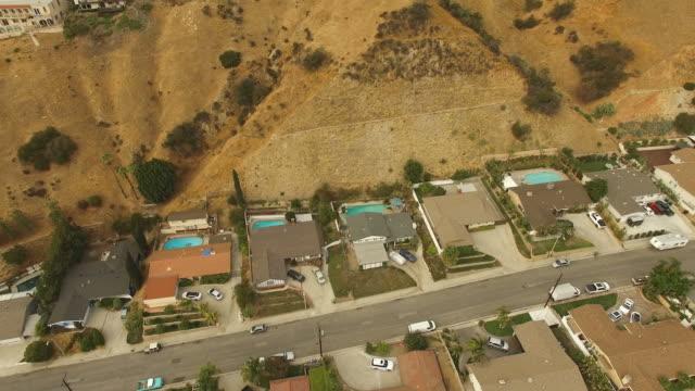 Reveal of Wildfire above neighborhood video