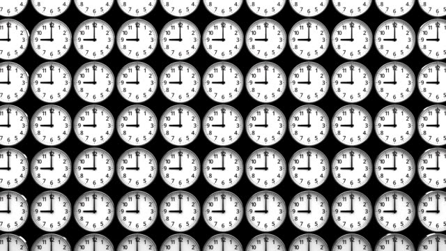 Reverse Clocks On Black Background - Vidéo