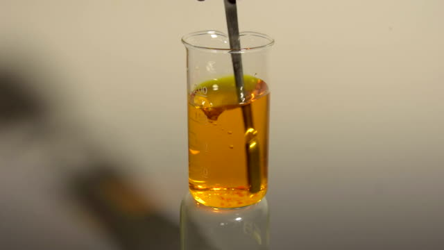 reverse entropy, re-solution of an orange crystal video