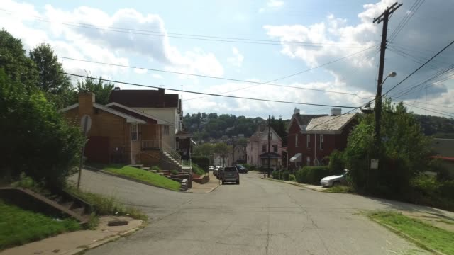 Reverse Rear Pittsburgh West End Neighborhood Driving Plate video