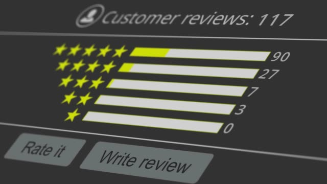 review of online service web interface for product or service review survey icon stock videos & royalty-free footage