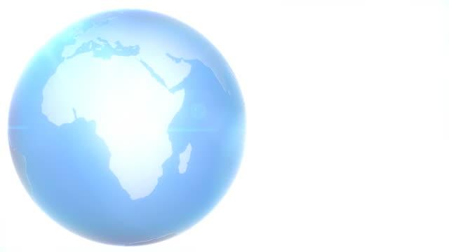 Revolving Blue Earth Looped HD video