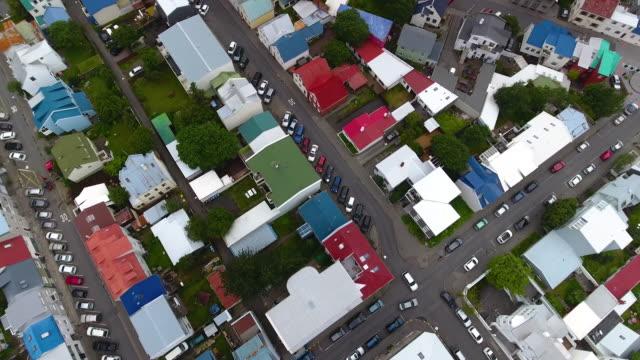 reykjavik aericl ansicht - kapitell stock-videos und b-roll-filmmaterial