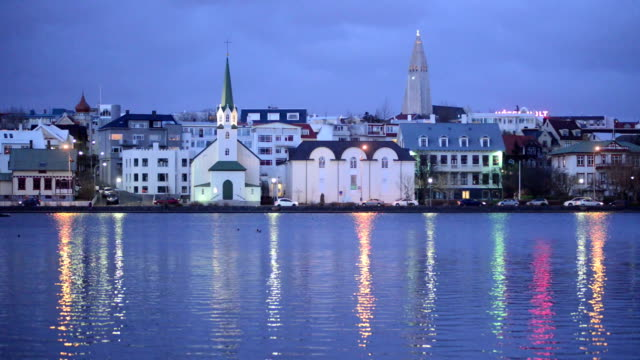Reykjavik Cityscape, Iceland, Europe video