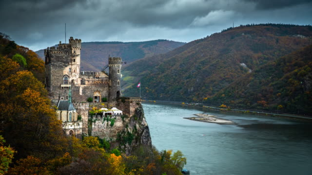 Rheinstein Castle and Rhine Valley in Germany