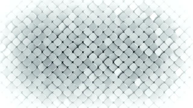 Rhombus pattern metallic surface 3D render loopable animation