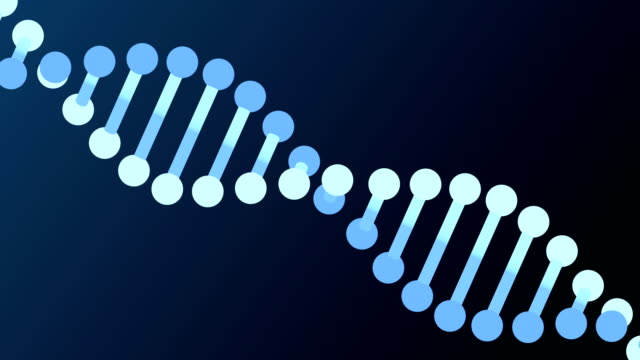 DNA Ribbon  animation, seamless loop from 8.08s, LUMA MATTE video