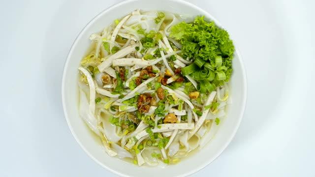 Rice Noodles with Vietnamese Pork Saucesage Slice sprinkle