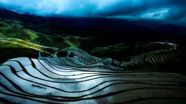 reisfeld bei longsheng - longji tetian stock-videos und b-roll-filmmaterial