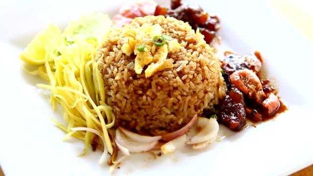 Rice Seasoned with Shrimp Paste Recipe