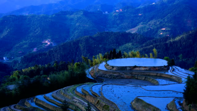 Rice terraces on high mountains 4K Time Lapse Video video