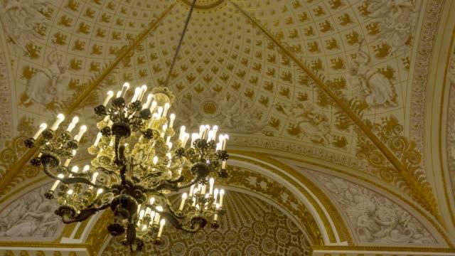 Rich chandelier in Hermitage