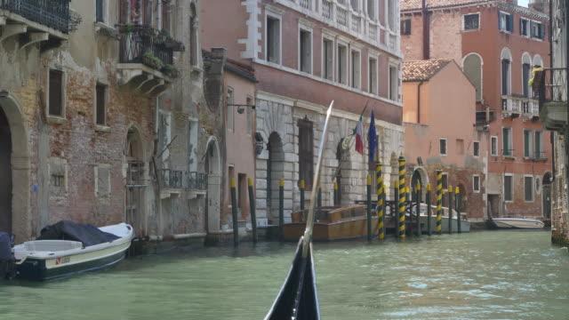 ride a gondola through venice - passenger craft stock videos & royalty-free footage