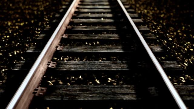 Ride over railroad track. video