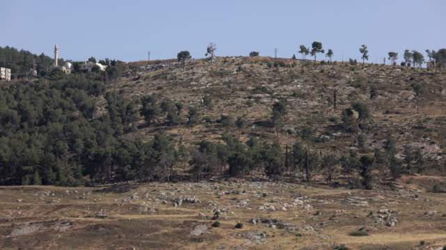 Ridgeline Far in Distance on Dry Mountaintop video