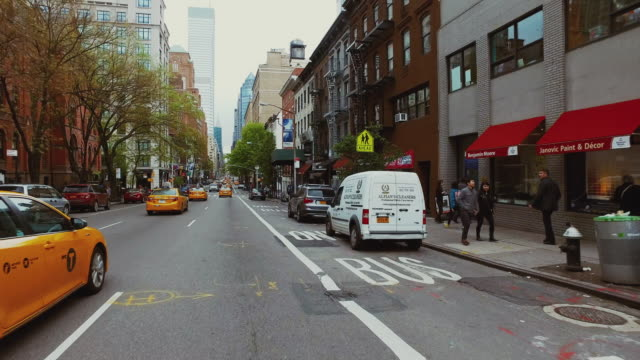 Riding a bicycle POV in New York city video