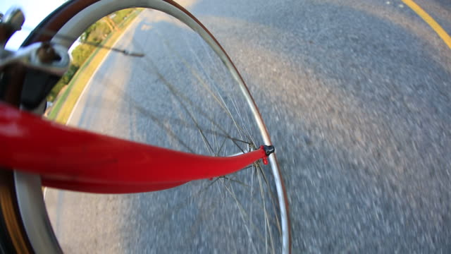 Riding a road bike video