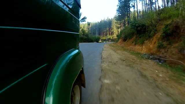riding a tuk tuk at sunrise through the mountains and jungle video