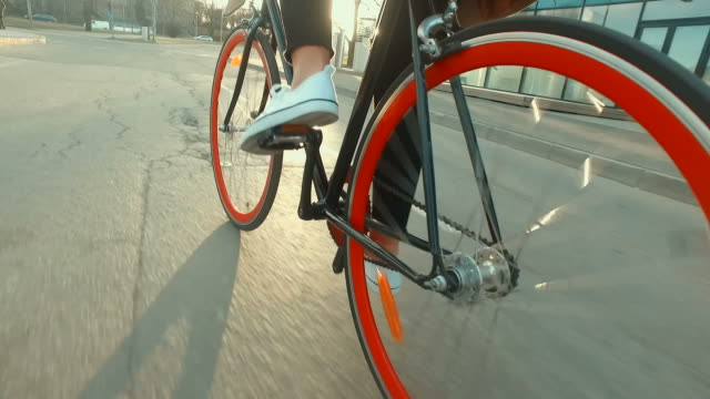 Riding bicycle into the sunset video
