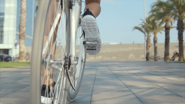 Riding bicycle (slow motion) video