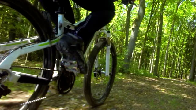 POV Riding Electric Mountain Bike In Spring video