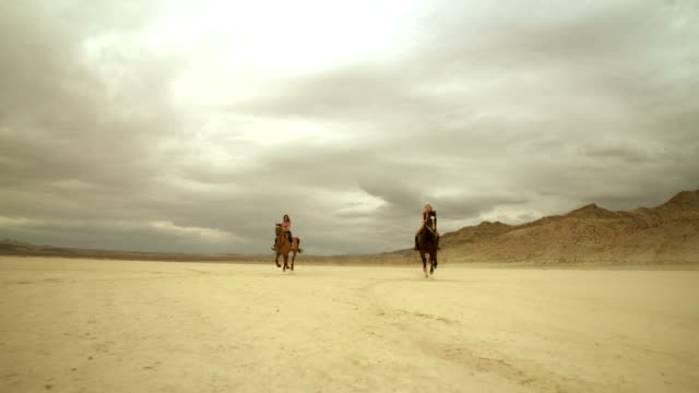 (Slow Motion) Riding Horses in the Dessert 01 video