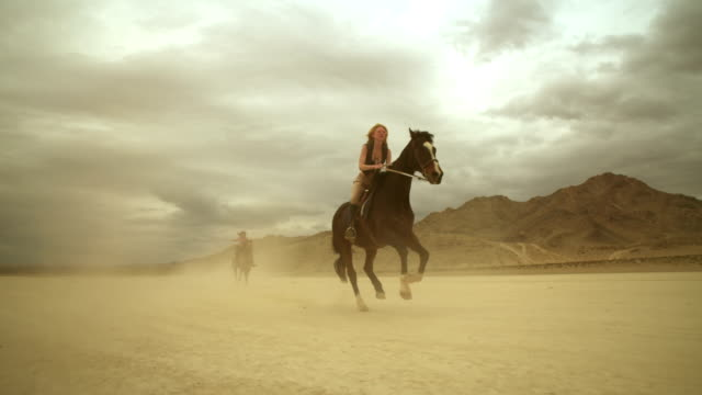 (Slow Motion) Riding Horses in the Dessert 02 video