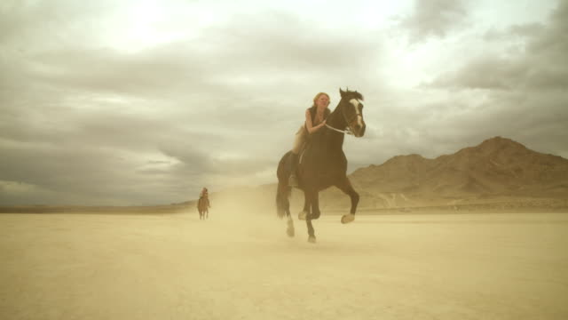 (Slow Motion) Riding Horses in the Dessert 03 video