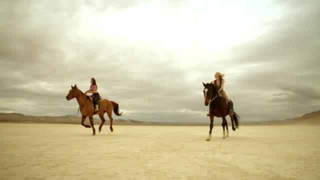 (Slow Motion) Riding Horses in the Dessert 06 video