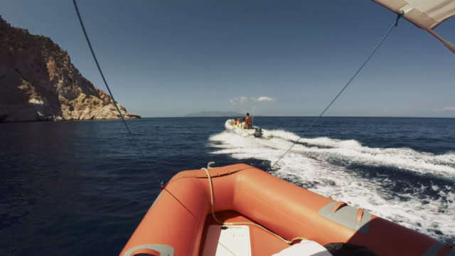 Riding inflatable boat rib Riding inflatable boat rib recreational boat stock videos & royalty-free footage