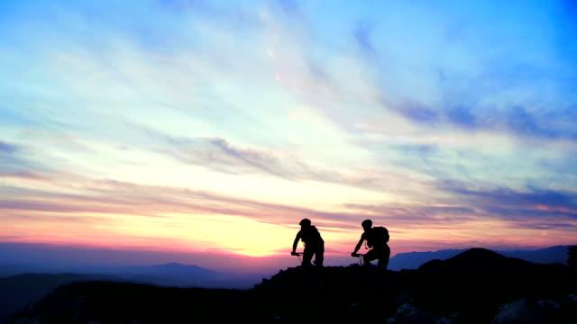 HD CRANE: Riding MTB On The Ridge At Sunset video
