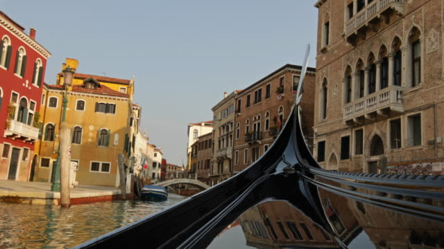 Riding on a Gondola in Venice, Italy Venice is a city in northeastern Italy and the capital of the Veneto region. It is situated across a group of 118 small islands that are separated by canals and linked by bridges, of which there are 400. european culture stock videos & royalty-free footage