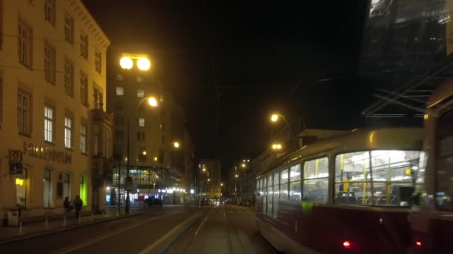 Riding the Tram in Prague