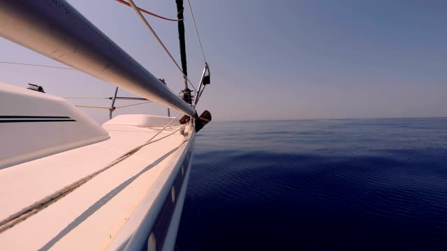 Right side of a sailing yacht video